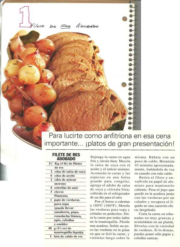 Filete de Res Adobado